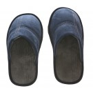 Men's Memory Foam Slippers - Indoor or Outdoor Suede Blue, Size 9-10